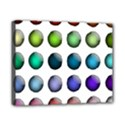 Button Icon About Colorful Shiny Canvas 10  x 8  View1