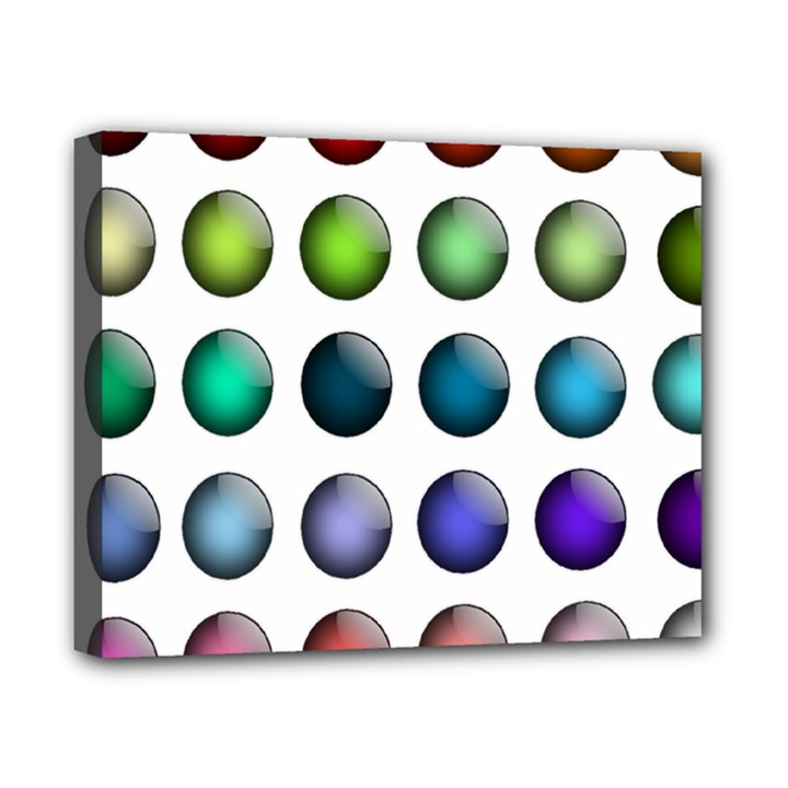 Button Icon About Colorful Shiny Canvas 10  x 8