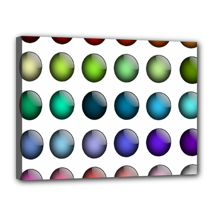 Button Icon About Colorful Shiny Canvas 16  x 12
