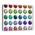 Button Icon About Colorful Shiny Canvas 20  x 16  View1