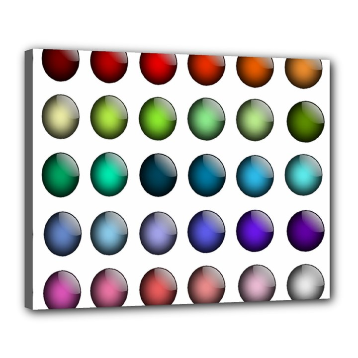 Button Icon About Colorful Shiny Canvas 20  x 16
