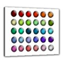 Button Icon About Colorful Shiny Canvas 24  x 20  View1