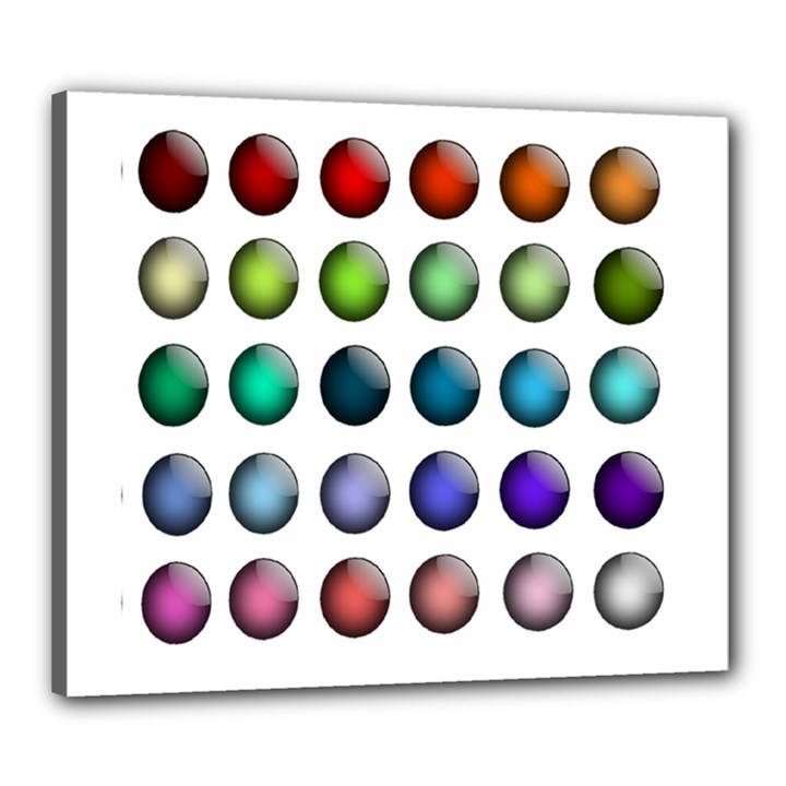 Button Icon About Colorful Shiny Canvas 24  x 20
