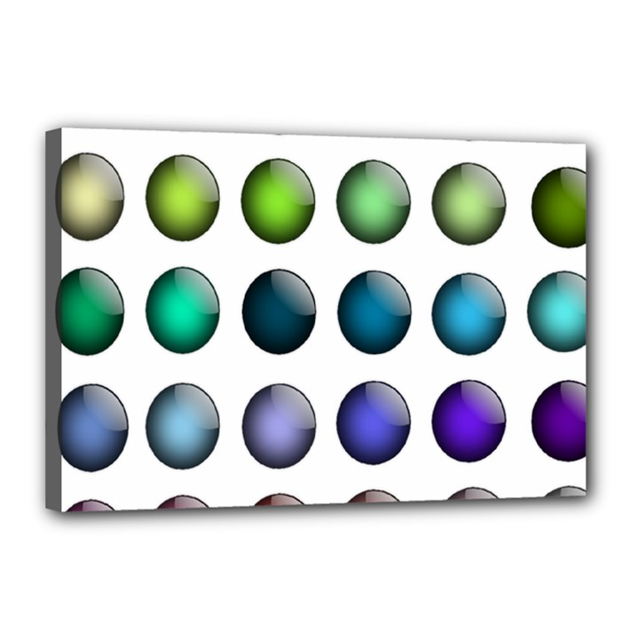Button Icon About Colorful Shiny Canvas 18  x 12
