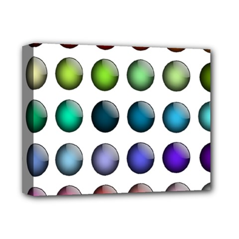 Button Icon About Colorful Shiny Deluxe Canvas 14  x 11