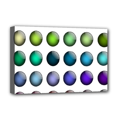 Button Icon About Colorful Shiny Deluxe Canvas 18  x 12