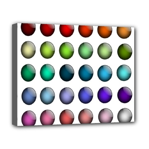 Button Icon About Colorful Shiny Deluxe Canvas 20  x 16