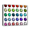 Button Icon About Colorful Shiny Deluxe Canvas 20  x 16   View1
