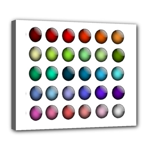Button Icon About Colorful Shiny Deluxe Canvas 24  x 20