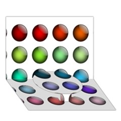 Button Icon About Colorful Shiny Circle Bottom 3D Greeting Card (7x5)