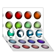 Button Icon About Colorful Shiny HOPE 3D Greeting Card (7x5)