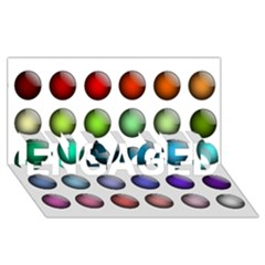 Button Icon About Colorful Shiny ENGAGED 3D Greeting Card (8x4)