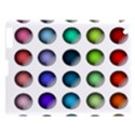 Button Icon About Colorful Shiny Apple iPad 3/4 Hardshell Case View1