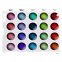 Button Icon About Colorful Shiny Apple iPad 3/4 Hardshell Case (Compatible with Smart Cover) View1
