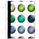 Button Icon About Colorful Shiny Apple iPad 2 Flip Case View3