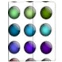 Button Icon About Colorful Shiny Apple iPad 3/4 Flip Case View1