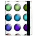 Button Icon About Colorful Shiny Apple iPad 3/4 Flip Case View2