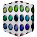 Button Icon About Colorful Shiny Apple iPad 3/4 Flip Case View4
