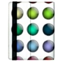 Button Icon About Colorful Shiny Samsung Galaxy Tab 10.1  P7500 Flip Case View2