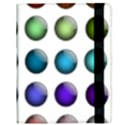 Button Icon About Colorful Shiny Samsung Galaxy Tab 10.1  P7500 Flip Case View3