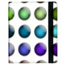 Button Icon About Colorful Shiny Samsung Galaxy Tab 8.9  P7300 Flip Case View2