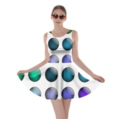 Button Icon About Colorful Shiny Skater Dress