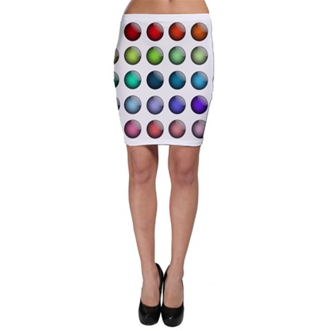 Button Icon About Colorful Shiny Bodycon Skirt