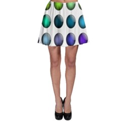 Button Icon About Colorful Shiny Skater Skirt