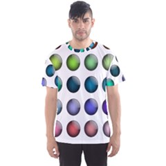 Button Icon About Colorful Shiny Men s Sport Mesh Tee