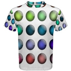 Button Icon About Colorful Shiny Men s Cotton Tee