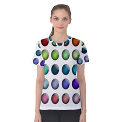 Button Icon About Colorful Shiny Women s Cotton Tee