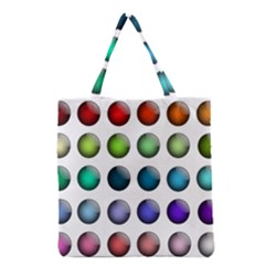 Button Icon About Colorful Shiny Grocery Tote Bag