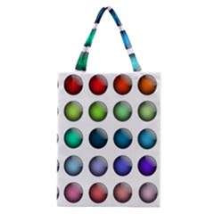 Button Icon About Colorful Shiny Classic Tote Bag