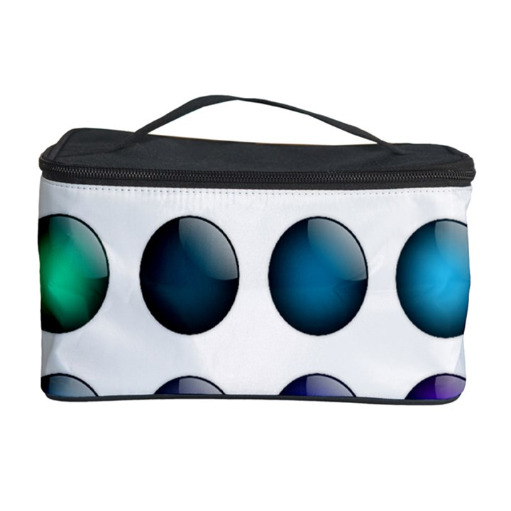 Button Icon About Colorful Shiny Cosmetic Storage Case