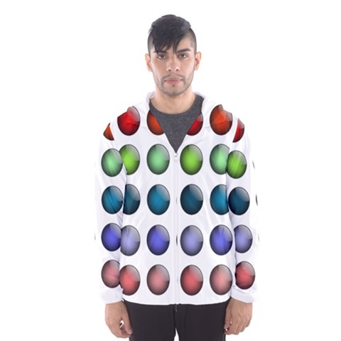 Button Icon About Colorful Shiny Hooded Wind Breaker (Men)