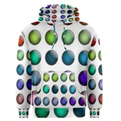 Button Icon About Colorful Shiny Men s Pullover Hoodie