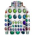 Button Icon About Colorful Shiny Men s Pullover Hoodie View1