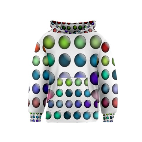 Button Icon About Colorful Shiny Kids  Pullover Hoodie