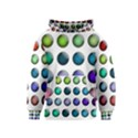 Button Icon About Colorful Shiny Kids  Pullover Hoodie View1