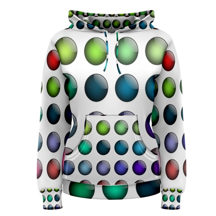 Button Icon About Colorful Shiny Women s Pullover Hoodie