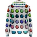 Button Icon About Colorful Shiny Women s Pullover Hoodie View2
