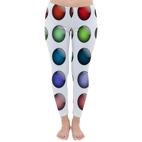 Button Icon About Colorful Shiny Winter Leggings
