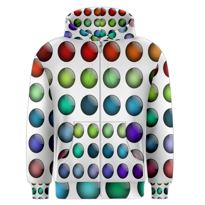 Button Icon About Colorful Shiny Men s Zipper Hoodie