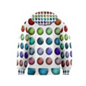 Button Icon About Colorful Shiny Kids  Zipper Hoodie View2