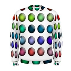 Button Icon About Colorful Shiny Men s Sweatshirt
