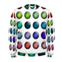 Button Icon About Colorful Shiny Men s Sweatshirt View1