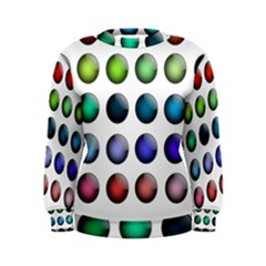 Button Icon About Colorful Shiny Women s Sweatshirt