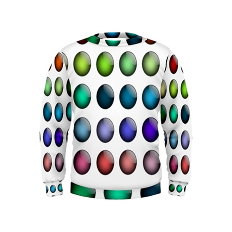 Button Icon About Colorful Shiny Kids  Sweatshirt