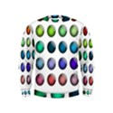 Button Icon About Colorful Shiny Kids  Sweatshirt View1