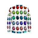Button Icon About Colorful Shiny Kids  Sweatshirt View2